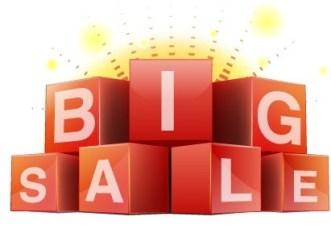 3D Red Big Sale Cubes Vector