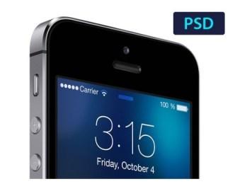 iOS 7 Lockscreen PSD Template
