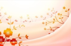 Bright Red Flower Vector Background