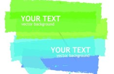Colored Paint Brush Background Vector 03