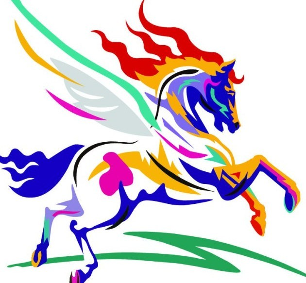 Colorful Horse Vector Illustration