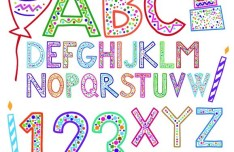 Creative Holiday Celebration Alphabet Design Vector