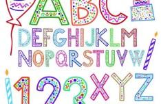 Creative Holiday Celebration Alphabet Design Vector