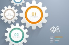 Creative Infographic Number Option Template Vector 03
