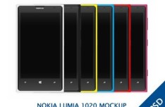 Colorful Nokia Lumia 1020 Mockup PSD