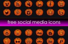 Cute Halloween Pumpkin Social Media Icons