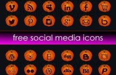 Cute Halloween Pumpkin Social Media Icons