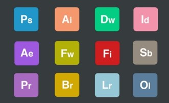 Flat Rounded Adobe Product Icons PSD
