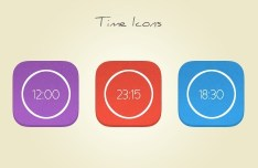 Rounded Time Flat Icon PSD