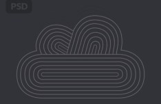 Abstract Cloud Icon PSD