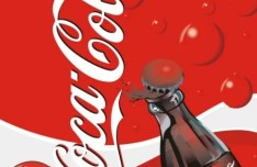 Coca Cola Poster Template Vector