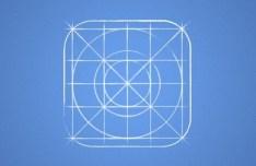 iOS 7 Icon Grid Blueprint PSD