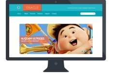 Eracle Website Template PSD