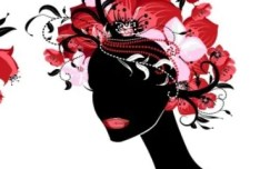 Creative Flower Woman Head Illustration Vector 02