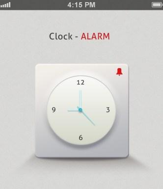 Light Alarm Clock App Fo iOS 7 PSD