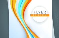 Abstract Lines Flyer Background Vector