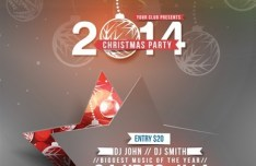 Creative Christmas Party Club Poster Flyer Template Vector 02