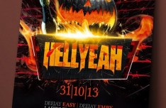 Hellyeah Halloween Flyer Template PSD