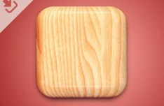 Wood Icon Template PSD