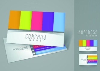 Elegant & Colorful Business Card Templates Vector 02