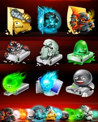 Halloween Style Folder and Device Icons