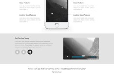 Focus - A Responsive & Fashion Landing Page Template PSD