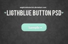 Light Blue Flat Button Template PSD