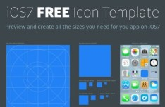 iOS7 Icon Bluepring Template PSD