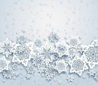 Elegant White Snowflakes Background Vector 01