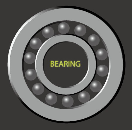 Vector Bearing, Knob, Nut and Screw