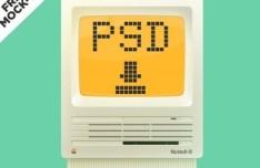 Old Mac Mockup PSD