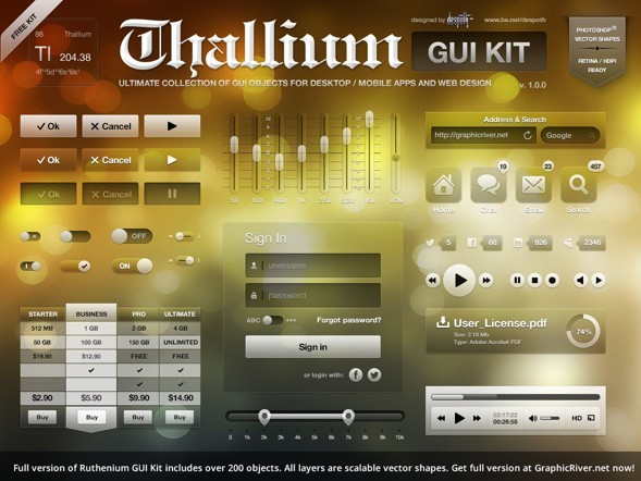 Thallium GUI Kit Free Version