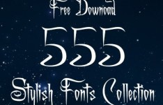 555 Stylish Fonts Collection