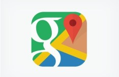 Flat iOS 7 Style Google Maps Icon PSD