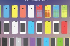Set Of Flat Apple Devices Vector