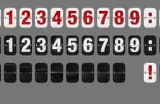 Flipboard Numbers PSD