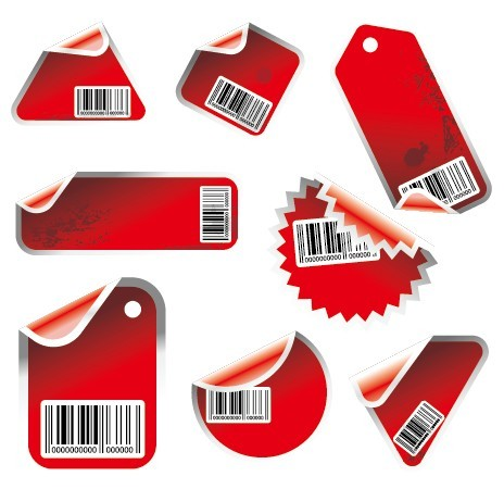 Set Of Red Vector labels & Stickers For Holiday Sale 03