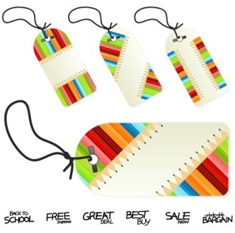 Set Of Creative Price Tags Vector 02