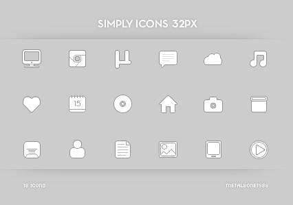 32px Web Icon Set