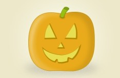 Cute Halloween Pumpkin Icon PSD