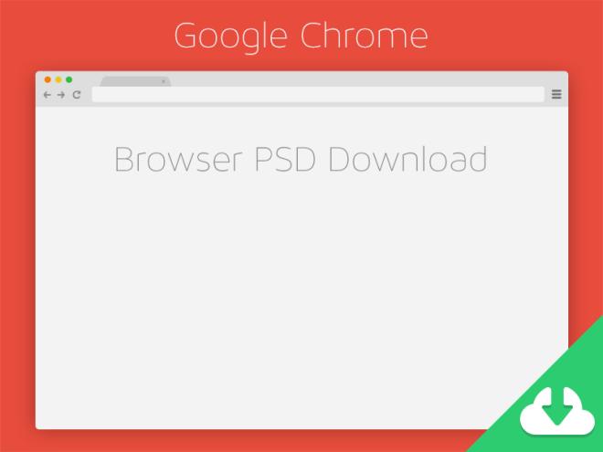 Flat Google Chrome Browser Template PSD