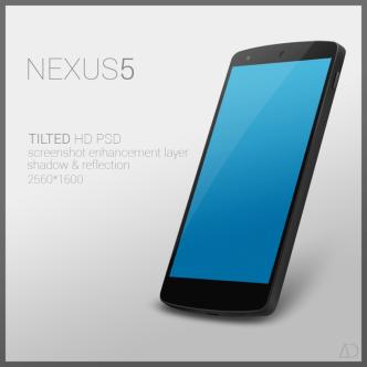 Google Nexus 5 Template Tilted HD PSD