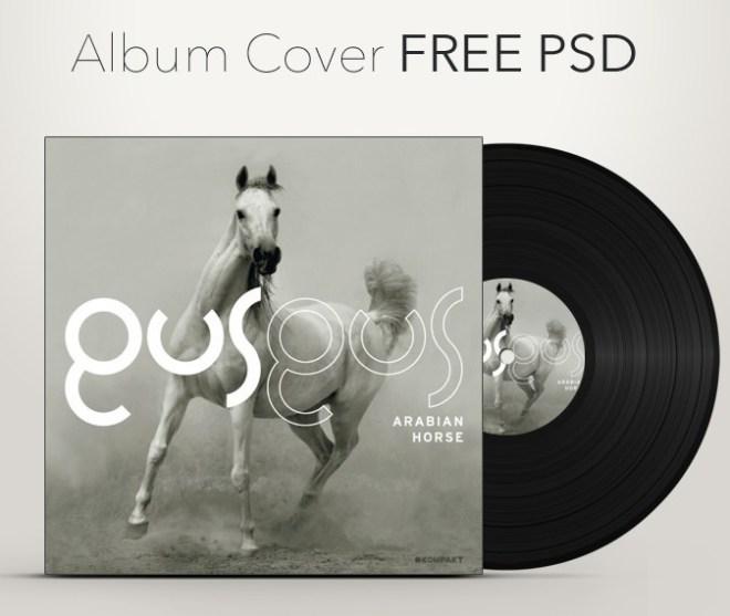 Album Cover Mockup Template PSD