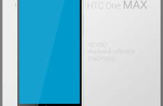 HTC One Max PSD Mockup