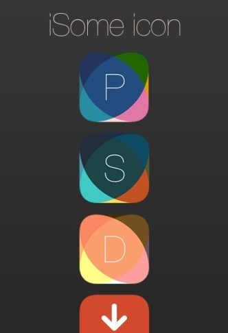 iSome iOS 7 App Icon Template PSD