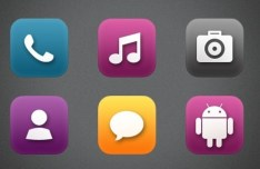 117 Rounded Android Icons PNG