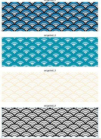 4 Colored Abstract Wave Pattern Backgrounds Vector