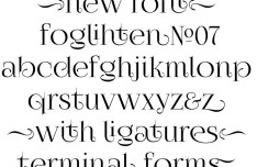 Foglihten No.07 Font