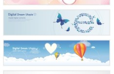Set of Fresh Sweet Banners Vector