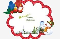 Fresh Merry Christmas Frame Vector 01